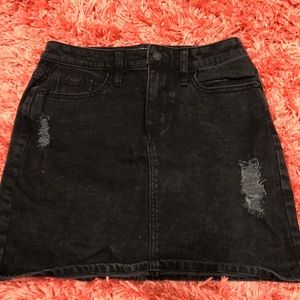 Black skirt with rips